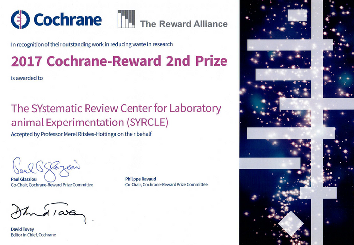 Cochrane reward second prize 2017